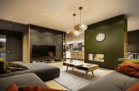 Thiết kế nội thất hợp lý trong ngôi nhà có phòng khách lớn