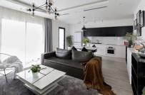 Không gian sống bình yên trong căn hộ đen-trắng ở Hà Nội