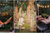 Không gian sân vườn thêm phần lung linh nhờ decor ánh sáng