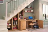 18 ý tưởng bố trí góc làm việc dưới gầm cầu thang đáng học hỏi