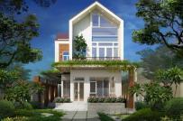 Tư vấn thiết kế nhà 2 tầng mái dốc thoáng đẹp với kinh phí xây thô 1,1 tỷ đồng