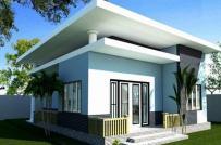 10 mẫu nhà mái bằng đầy đủ công năng, kinh phí chưa tới 500 triệu đồng
