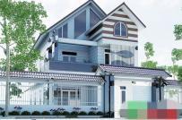 Thiết kế sáng tạo từ 10 mẫu nhà mái Thái 2 tầng