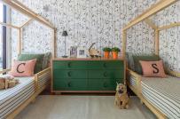Phòng ngủ siêu dễ thương dành cho cặp song sinh