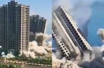 Trung Quốc phá sập 4 tòa nhà cao tầng trong 15 giây