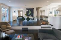 Không gian sống sang chảnh hơn bội phần nhờ thiết kế phòng khách chìm