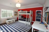 Muôn ý tưởng trang trí phòng trẻ em với màu đỏ