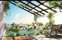 Những lưu ý không thể bỏ qua khi thiết kế hồ cá Koi trên sân thượng