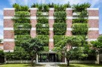 Mát mắt với khách sạn xanh ở Hội An với lớp cây bao phủ ban công mặt tiền