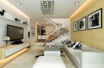 Gợi ý cách thiết kế và bài trí thoáng đẹp cho phòng khách có cầu thang