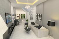 Tư vấn thiết kế nhà 4 tầng hiện đại với kinh phí 1,6 tỷ đồng