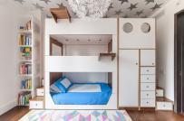 Thích mê với thiết kế giường 3 tầng dành cho gia đình có nhiều con nhỏ