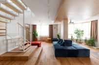 Căn hộ 2 tầng hiện đại, được thiết kế linh hoạt và an toàn với trẻ nhỏ