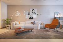 Ấn tượng với căn hộ được bài trí theo phong cách đơn giản, sang trọng