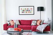 Ghế sofa màu đậm dần trở thành xu hướng nội thất phòng khách hiện đại