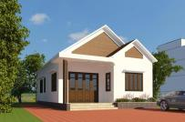 Giải pháp xây nhà cấp 4 đẹp, hiện đại, tiết kiệm chi phí trên mảnh đất 137m2