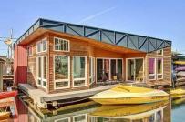 Không gian sống ngập tràn ánh sáng trong ngôi nhà nổi trên mặt hồ ở Mỹ