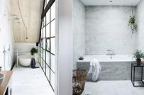 Loạt phòng tắm đơn sắc mê hoặc người ngắm