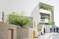 Những mẫu nhà phố 2,5 tầng hiện đại được nhiều gia đình lựa chọn