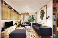 Ấn tượng với căn hộ sử dụng tông màu xanh lá làm điểm nhấn