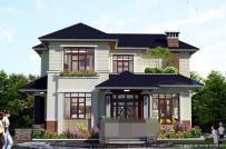 Những mẫu nhà vuông 2 tầng mái Thái phổ biến hiện nay