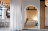 """Thiết kế """"hộp ngủ"""" khéo léo biến đổi hoàn toàn căn hộ 50m2"""