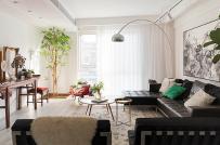 Cách bài trí nội thất khéo léo trong căn hộ của nhà quản lý nghệ thuật
