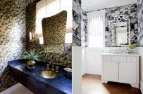 Thổi luồng gió mới cho phòng tắm với giấy dán tường họa tiết