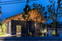 Độc đáo nhà một trệt một lửng xây từ giàn giáo và đá vụn ở Hà Nam