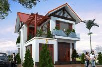 Tư vấn thiết kế biệt thự 2 tầng mái Thái tiện nghi trên diện tích 100m2