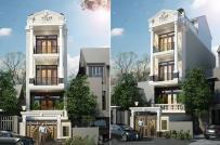 Tư vấn thiết kế nhà 4 tầng trên mảnh đất 74m2