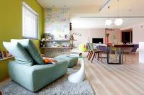 Ấn tượng với căn hộ sử dụng giấy dán tường làm điểm nhấn trang trí