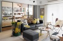 Học cách phối màu nội thất hài hòa trong căn hộ 85m2