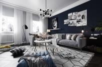 Thiết kế nội thất căn hộ 70m2 dành cho người trẻ năng động