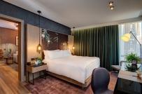 Nội thất mộc mạc trong khách sạn thuần chay đầu tiên trên thế giới