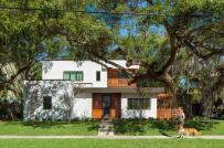 Vẻ đẹp mộng mơ của ngôi nhà màu trắng dưới tán cây cổ thụ