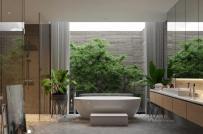 Những mẫu phòng tắm mở thoáng đẹp, gần gũi với thiên nhiên