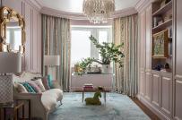 Những mẫu phòng khách đẹp quyến rũ với tông màu hồng pastel dịu ngọt