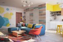 Sắc màu mùa hè đong đầy trong căn hộ 80m2