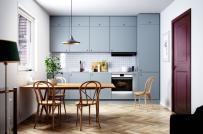 Loạt tủ bếp được thiết kế tựa như tủ quần áo