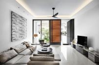 Thiết kế nội thất tối giản - tinh tế - sang trọng trong nhà phố 3 tầng ở Singapore