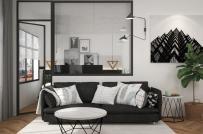 Tham khảo cách bài trí nội thất màu đen - trắng cho căn hộ nhỏ