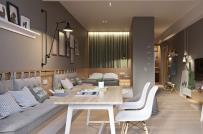 Học cách bài trí nội thất khéo léo trong căn hộ không tường ngăn