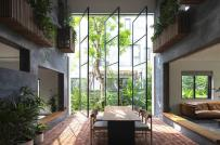Khoảng trống đắt giá trong biệt thự 2,5 tầng ở Hà Nội