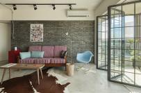 Mẫu căn hộ phong cách công nghiệp đơn giản, đẹp hút mắt