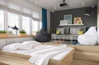 Những mẫu phòng ngủ hiện đại, đa năng sử dụng cây xanh làm điểm nhấn