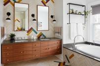 Phòng tắm hiện đại, cá tính hơn với phụ kiện kim loại mạ đồng