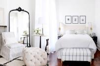 """""""Học lỏm"""" chiêu trang trí phòng ngủ màu trắng đẹp mê mẩn"""