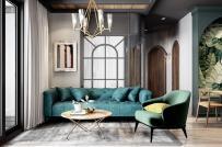 Mẫu căn hộ hiện đại, trẻ trung dành cho người chuộng sắc xanh lá