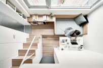 Bài trí nội thất thông minh trong căn hộ 22m2 của vợ chồng son
